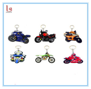 Custom Logo Design Promotion Gifts 2D Rubber Motorcycle Keychain pictures & photos