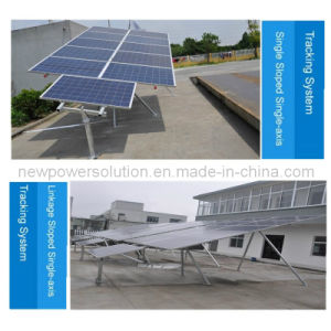 Sloped Axis Solar Tracking System Used in High-Latitude Regions