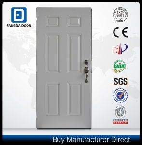 American Style Wood Edge Steel Entry Metal Security Door pictures & photos