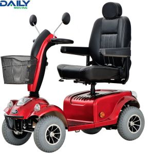 New Design 4 Wheels Electric Mobility Scooter with Air Spring Tiller Adjuster pictures & photos