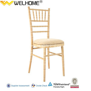 UK Style Wood Banquet Chiavari Chair with Hard Cushion pictures & photos