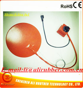 24V 250W Diameter 250*1.5mm Silicone Electric Round Flexible Heater