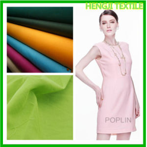 Elastic Poplin Cotton Fabric for Garment (120-068)