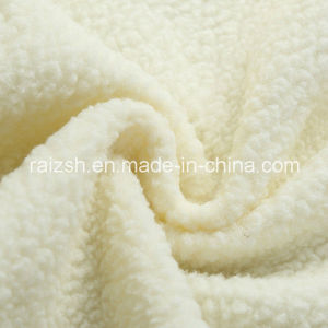 100% Polyester Sherpa Fleece Fabric for Winter Coat Lining