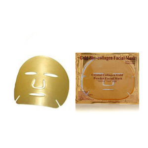 Anti-Wrinkle Gold Bio-Collagen Facial Mask pictures & photos