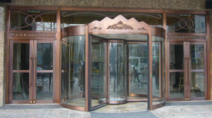 Automatic Revolving Door, 3-Wing, Lenze Motor, Aluminum Frame Stainless Steel Cladding pictures & photos