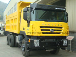 Hot Sale 6*4 C100 Genlyon Iveco Tipper with Berth (CQ3314HTG366) pictures & photos