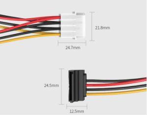 4pin To 2 Ports Of 15pin SATA Cable