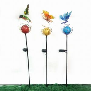 Wholesale Metal Stake Craft with Glass Ball Solar Light