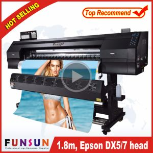 High Quality Funsunjet Fs-1802g 1.8m/6FT Outdoor Wide Format Printer with Two Dx5 Heads 1440dpi for Vinyl Sticker Printing pictures & photos