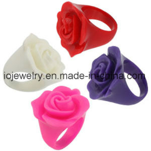 Colorful Resin Rose Rings for Women pictures & photos