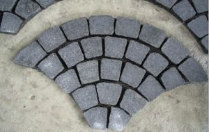 G684 Black Basalt Paving for Garden, Station pictures & photos