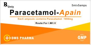 Paracetamol Acetaminophen Apap Westren Medication for Injection 1000mg: 5ml pictures & photos