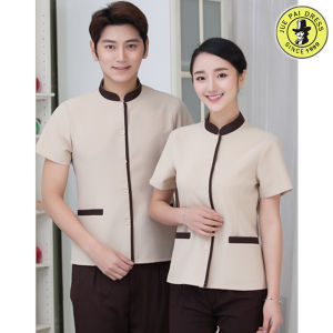 China wholesale oem service hotel room service cleaning for Restaurant uniform shirts wholesale