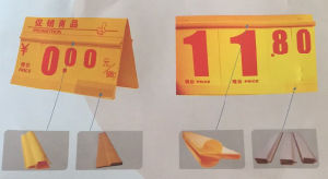 PVC Material Supermarket Price Tag pictures & photos