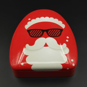 Father Christmas Candy Tinplate Box/Metal Can (T002-V3)