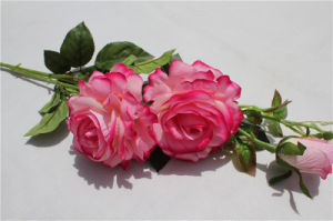 Hot Sale Cheap Wholesale Artificial Flowers/ Fake Flower Pink Rose