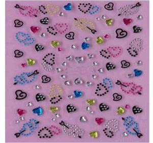 3D DIY Decoration Foils Decal Nail Art Stickers Nail Stickers