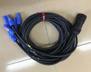 Socapex Power Extension Cable Breakout to Powercon