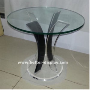 Acrylic Organic Glass Tea Table with Glass Top (BTR-Q7001) pictures & photos