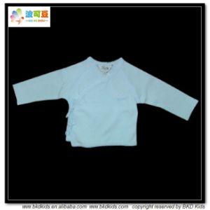 Plain Dyed Baby Wear Kimono Style Toddlers Shirts pictures & photos