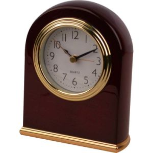 Hotel Sqaure Silent Table Alarm Clock pictures & photos