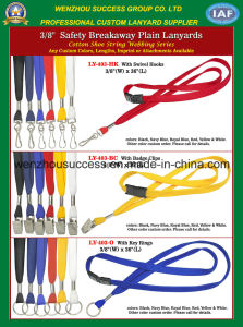 Safety Breakaway Plain Lanyards pictures & photos