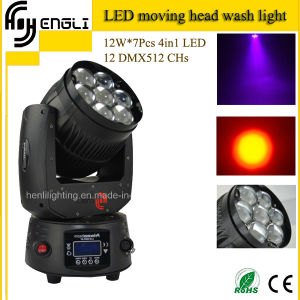 7PCS *12W RGBW 4in1 LED Moving Head Wash Stage Lighting