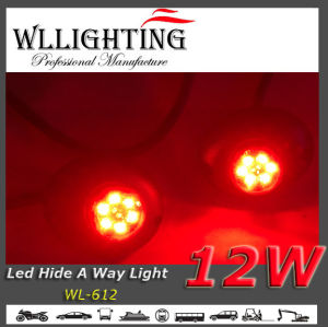 Red LED Hide a Way Car Strobe Warning Lights