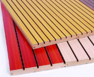 Sound Absorb Wooden Fireproof Acoustic Panel (28/4CMFFRE115) pictures & photos