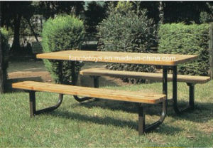 Park Bench, Picnic Table, Cast Iron Feet Wooden Bench, Park Furniture FT-Pb039