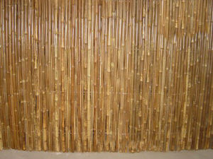 Carbonized Brown Decorative Bamboo Fence