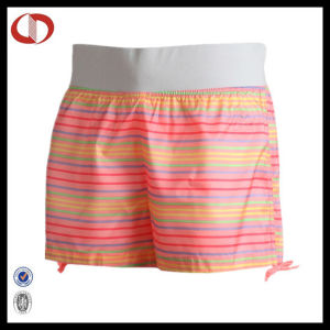 Custom Sublimation Striped Running Shorts Wholesale For Women pictures & photos
