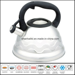 Nylon Handle Flower Pattern Induction Whistle Kettle Cookware pictures & photos