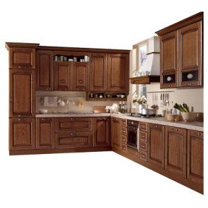 Foshan Factory Custom Made Solid Wood Oak Wood Kitchen Cabinet