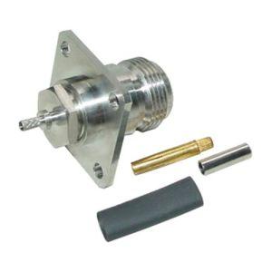 N Type Brass Body Nickel Plating RF Connectors