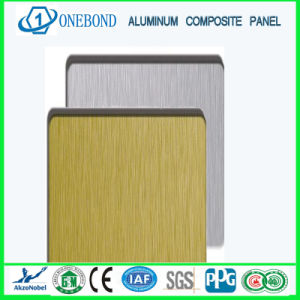 Gold and Silver Brushed Aluminum Composite Panel pictures & photos