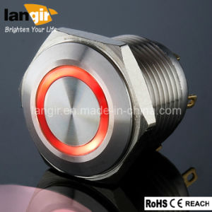 Langir Vandal Resistant Push Button Switch (16mm, 19mm, 22mm, 25mm, 30mm) pictures & photos