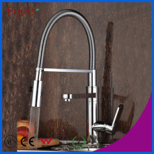 Dule Head Brass Pull-Down Kitchen Sink Faucet (QH0783-12) pictures & photos