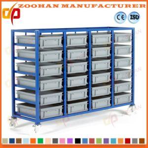 Plastic Warehouse Garage Storage Container Bins Storage Shelving Rack  (Zhr277)