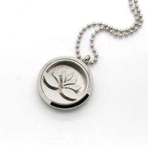 China Round Silver Lotus Flower Aromatherapy Locket Perfume Diffuser