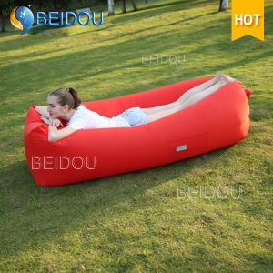 Factory DIY Cheap Beanbag Inflatable Sleeping Bags Beach Bed Air Bed Inflatable Air Sofa Laybag