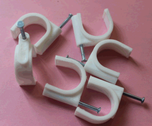 22mm Electrical Wire Plastic Round Cable Clips pictures & photos