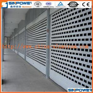 Powder Coating Hurricane Guide Rail Roller Shutters Perforated Aluminum