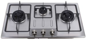 Gas Hob with Stainless Steel Panel