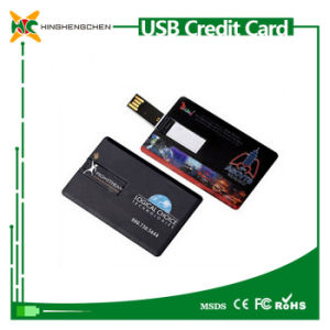 Custom USB Flash Drive Credit Card Shape Pen Drive pictures & photos