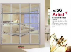 Morden Design PVC Shutter Series Wardrobe Sliding Door (yg 010)