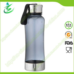 BPA Free Sports Bottle with Stainless Cap and Base