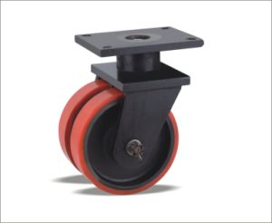 Industrial Heavy Duty Heavy Duty Twin-Wheel Caster pictures & photos
