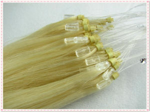 Indian Remy Loop Ring Human Hair Extension pictures & photos
